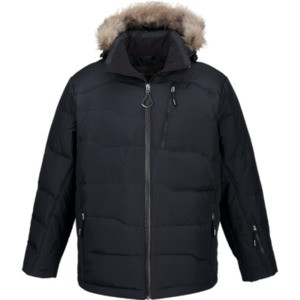 BOREAL MEN'S DOWN JACKET WITH FAUX FUR TRIM
